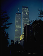 Wtc Art - World Trade Center At Dusk by Mark Gilman