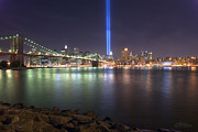 Brooklyn Bridge Prints - World Trade Center Memorial Print by Shane Psaltis