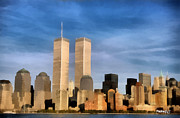 Twin Towers World Trade Center Digital Art Metal Prints - World Trade Center Metal Print by PedrazArt Digital Designs