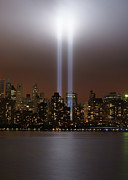 Illuminated Tapestries Textiles - World Trade Center Tribute In Light by Greg Adams Photography