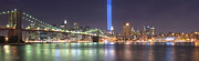 New York City Skyline Photos - World Trade Center Tribute Lights by Shane Psaltis
