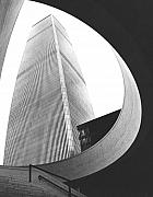 City. Framed Prints - World Trade Center Two NYC Framed Print by Steven Huszar