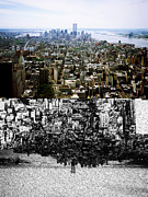 Twin Towers World Trade Center Digital Art Metal Prints - World Trade Memorial 1 Metal Print by Eliot LeBow