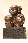 African-american Reliefs - World View by Tomi LaPierre