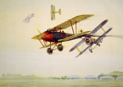 World War I Air Battle In Which Print by Everett