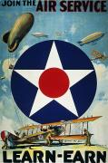 Army Recruiting Prints - World War I: Air Service Print by Granger