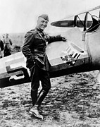 Rickenbacker Prints - World War I Fighter Ace And Air Advisor Print by Everett