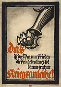 War Loan Framed Prints - World War I, German Poster Depicting Framed Print by Everett