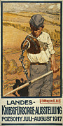 1910s Portrait Prints - World War I, German Poster Shows Print by Everett