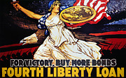 War Loan Framed Prints - World War I: Liberty Loan Framed Print by Granger