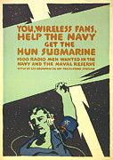 Lightning Poster Posters - World War I, Navy Recruitment Poster Poster by Everett
