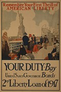 World War I Poster Aimed At Recent Print by Everett