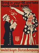 1910s Poster Art Posters - World War I, Poster Showing Liberty Poster by Everett
