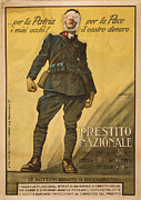 Alfredo Ortelli Posters - World War I, Poster Shows A Wounded Poster by Everett