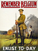 1910s Poster Art Posters - World War I, Recruitment Poster Poster Poster by Everett