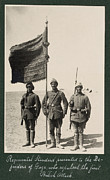 Gaza Framed Prints - World War I, Regimental Standard Framed Print by Everett