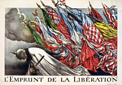 Liberation Framed Prints - World War I, The Liberation Loan Framed Print by Everett
