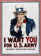 1916 Posters - World War I: Uncle Sam Poster by Granger