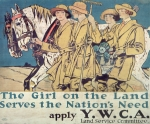 Farm Framed Prints - World War I YWCA poster  Framed Print by Edward Penfield