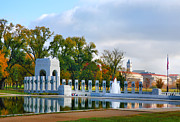 Sculpture Greeting Cards Posters - World War II Memorial III Poster by Steven Ainsworth