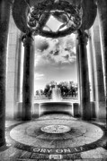 Monotone Prints - World War II Memorial Print by Steven Ainsworth