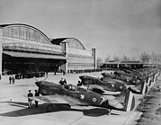 Hangar Prints - World War Ii, Original Caption Line-up Print by Everett