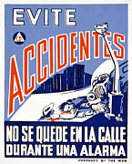 Car Crash Photos - World War Ii, Poster Showing A Man by Everett