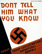 Swastika Posters - World War Ii, Poster Suggesting Poster by Everett