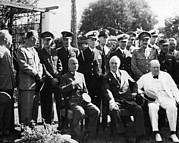 British Prime Minister Photos - World War Ii. Seated, From Left Chiang by Everett