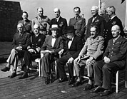 Eht10 Prints - World War Ii. Seated, From Left George Print by Everett