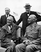 British Prime Minister Photos - World War Ii. Seated, From Left  Us by Everett
