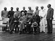 Allies Photos - World War Ii. Seated, From Left W.l by Everett