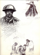 Trench Drawings - World War One Sketch No. 1 by Andrew Gillette