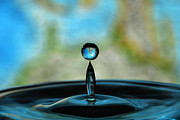 Speed Digital Art Originals - World Water Drop by Donna Caplinger