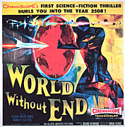 1956 Movies Photo Posters - World Without End, Poster Art, 1956 Poster by Everett