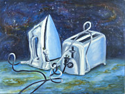 Toaster Painting Prints - Worlds Apart...and Yet Print by Vianne Korhorn