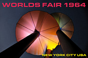 Disc Posters - Worlds Fair 1964 New York City USA Poster by David Lee Thompson