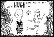 Ironic Drawings Originals - Worlds leading Playboy 85 and still Single by Yasha Harari