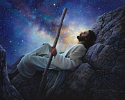 Moon      Posters - Worlds Without End Poster by Greg Olsen