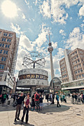 Alexanderplatz Framed Prints - Worldtime Clock Framed Print by Benjamin Matthijs