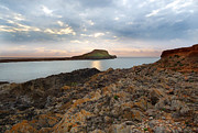 Causeway Coast Prints - Worms Head Rhosilli Print by Julie L Hoddinott