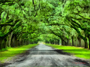 Dirt Road Paintings - Wormsloe Plantation by Lynne Jenkins