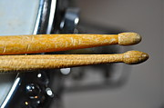 Drumsticks Photo Acrylic Prints - Worn-Out Drumsticks Acrylic Print by William  Carson