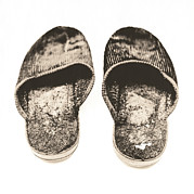 Unhygienic Framed Prints - Worn Slippers Framed Print by Kevin Curtis