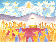 Worship God Paintings - Worship God In Spirit and Truth by Audrey Peaty