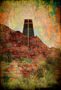 Sedona Digital Art Prints - Worship in Sedona Print by Dale Stillman