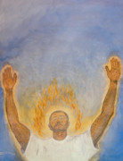 Worship God Painting Metal Prints - Worship  Metal Print by Nigel Wynter