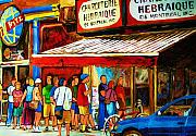 Montreal Restaurants Paintings - Worth The Wait by Carole Spandau