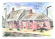 Minnesota Painting Originals - Worthington Depot by Matt Gaudian