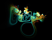 Apophysis Digital Art Prints - Wots Going On In Ear Print by Amanda Moore